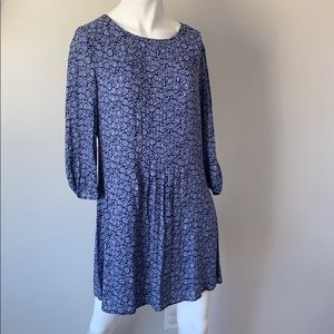 NWT Anthropologie Boden blue floral dress